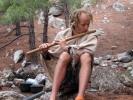 Леший, играющий на флейте.