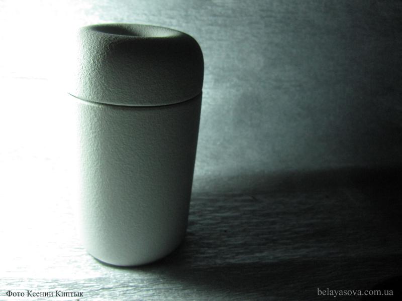 Чайница белая матовая (фото 1)