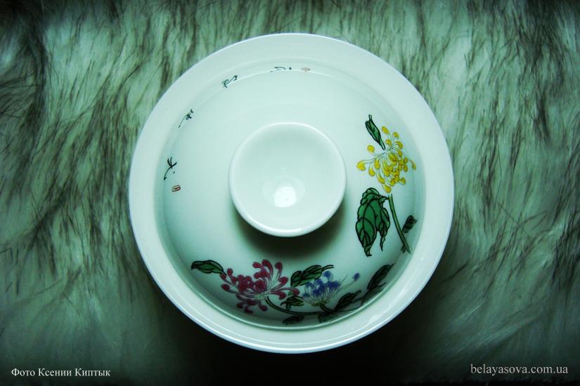 Гайвань с цветами хризантемы (фото 5)