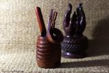 Темные инструменты из корня бамбука (фото 1)