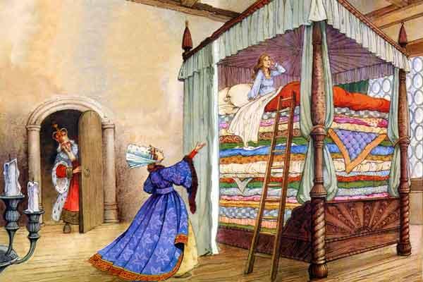 Андерсен принцесса на горошине рисунки