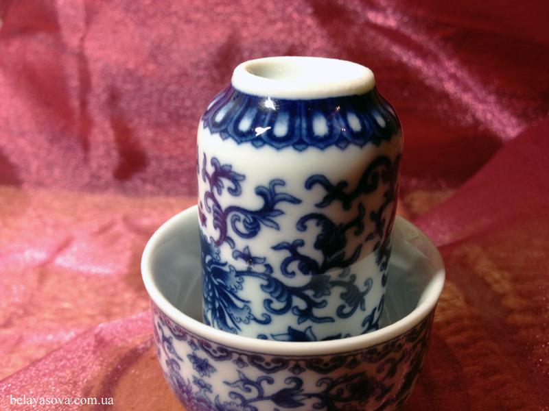 Чайная пара с цветами и карпами (фото 2)