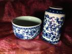 Чайная пара с цветами и карпами (фото 3)