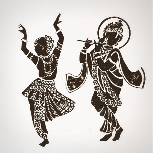 Cheap-font-b-Indian-b-font-Buddha-font-b-Dance-b-font-Hinduism-Wall-Decal-Home