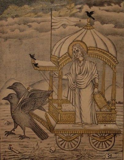 Goddess_Dhumavati,_One_of_the_Mahavidya_-_Vintage_Prints,_Late_19th_Century_c