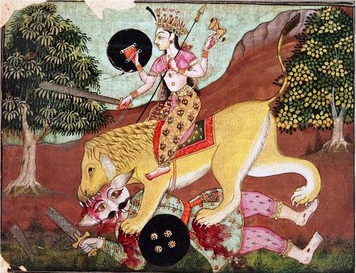 1-Bikaner style Durga2